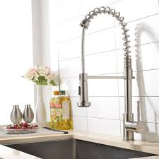Kitchen Faucets Best by Vapsint Best Commercial Single Handle Brushed Nickel Pre Rinse