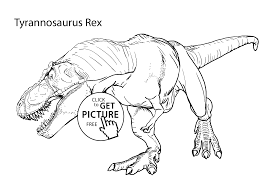 t rex coloring page 4669