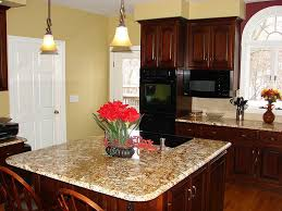 Wall Color Ideas For Kitchen by Graceful Kitchen Wall Colors With Dark Oak Cabinets Meta Stone
