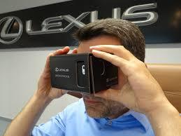 lexus cardboard sedan new virtual reality app let u0027s you drive the lexus rcf on the