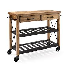 Kitchen Carts On Wheels by Roots Rack Natural Industrial Kitchen Cart Crosley Furniture