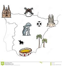 Madrid Spain Map by Spain Map Stock Vector Image 73365784