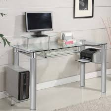 uncategorized simple computer desk with solid aluminium stand and