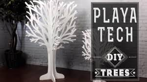 flat pack playatech art making a tree out of scrape foam core