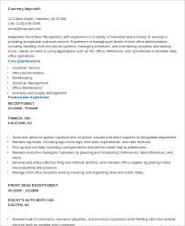 Sample Of Receptionist Resume by Receptionist Resumes Receptionist Resume Sample Resume Sample
