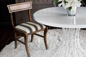 update a dining chair cushion with a flat weave rug how tos diy