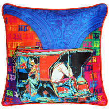 Home Decor Online Stores India by Funky Taxi Poli Dupion Cushion Cover From The Exclusive Home Decor