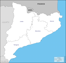 catalonia free map free blank map free outline map free base