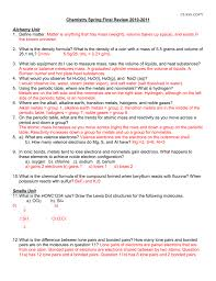 chemistry fall final study guide concepts