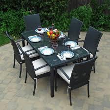 White Resin Wicker Outdoor Patio Furniture Set - patio inspiring outdoor patio furniture set ultimate patio