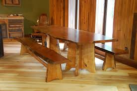 Custom Made Dining Room Furniture Inexpensive Long Wooden Dining Table Chairs And Benches With Black