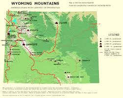Wyoming Map Usa by Peaklist Prominence Lists And Maps