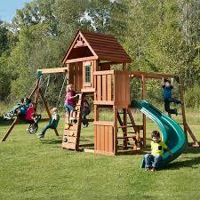 Cedar Playsets Amazon Com Swing N Slide Cedar Brook Play Set Toys U0026 Games
