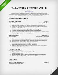 Sample Resumes For Professionals by Data Entry Resume Sample U0026 Writing Guide Rg