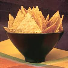 Homemade corn chips