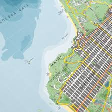 Street Map San Francisco by San Francisco Street Map Version 2 Paper The Future Mapping