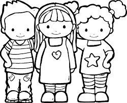 friendship coloring pages wecoloringpage