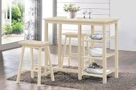 Acme Furniture Dining Room Set Amazon Com Acme Furniture 73052 3 Piece Nyssa Counter Height Set