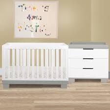 White Convertable Crib by Modo 3 In 1 Convertible Crib Set In Grey White