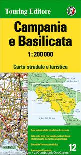 Italy Region Map by Map Of Campania U0026 Basilicata Potenza U0026 Napoli Region Italy