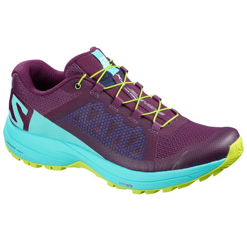 Salomon XA Elevate W Road Running Shoe Dark Purple/Blue Curacao/Acid Lime 6.5 US L40137800-6.5