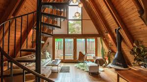 A Frame Cabin Floor Plans With Loft Houzz Tv Showing Her Creative Side In A Classic Los Angeles A Frame