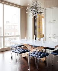 lucite folding chairs dining room contemporary with banquette