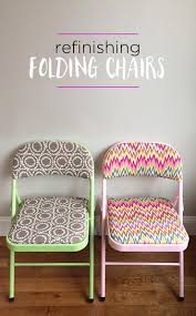 How To Stop Swivel Chair From Turning How To Refinish Folding Chairs Furniture Makeover Folding