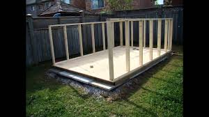 Plans To Build A Wooden Garden Shed by Building A Backyard Garden Shed Youtube