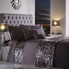 Purple Bed Sets by Portofino Dazzle Glitter Duvet Bedding Set With Sequins Purple