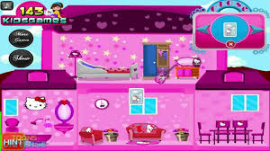 Home Decoration Games Hello Kitty Doll House Decoration Game For Children Youtube