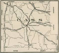 Image of an old map of Cass County, Missouri