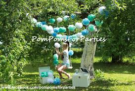 luxury hanging decorations paper pom poms open air party