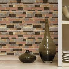 RoomMates Modern Long Stone Peel And Stick Tile Backsplash Pack - Peel on backsplash
