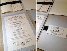 folded invitation custom wedding invitations vertical folded card ribbon sash
