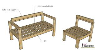 Free Outdoor Furniture Plans by Diy Outdoor Seating Her Tool Belt