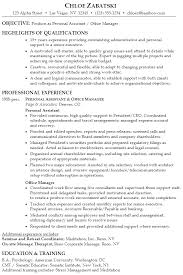 Sample Personal Resume by Resume Personal Assistant Office Manager Susan Ireland Resumes