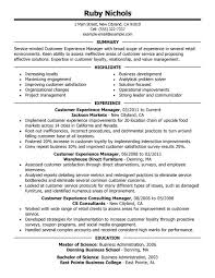 Unforgettable Customer Experience Manager Resume Examples to Stand     My Perfect Resume Customer Experience Manager Resume Sample