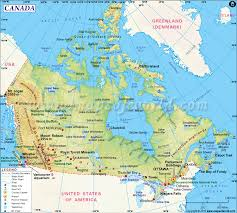 United States Map Major Cities by Canada Map Map Of Canada