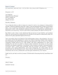 Cover Letter Administrative Assistant Inside Legal Secretary Cover Letter