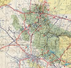 Route 66 Arizona Map by Interstate Guide Interstate 17