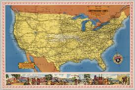 United States And Canada Map by Map Of The Greyhound Lines In The United States Canada And Mexico