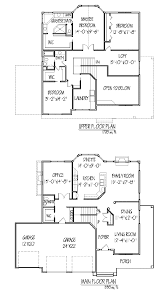 floor plan and elevation of a house
