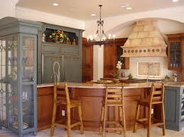 alder wood classic blue glass panel door kitchen cabinets in