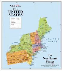 Map Of America With States by North East America Map America Map
