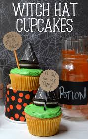 easy witch hat cupcakes poofy cheeks