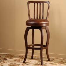 leather saddle bar stools antique brown higj gloss polished teak wood swivel bar stool with