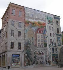 rambling traveler wall murals of quebec city quebec city wall mural