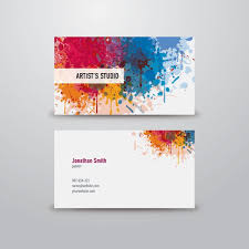 Business Card Eps Template Artist Business Card Graphic Available In Eps Vector Format