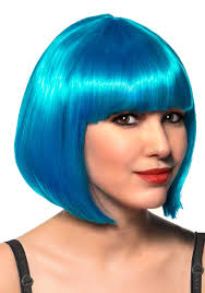 green halloween wig blue bob costume wig with fringe women u0027s short blue costume wig